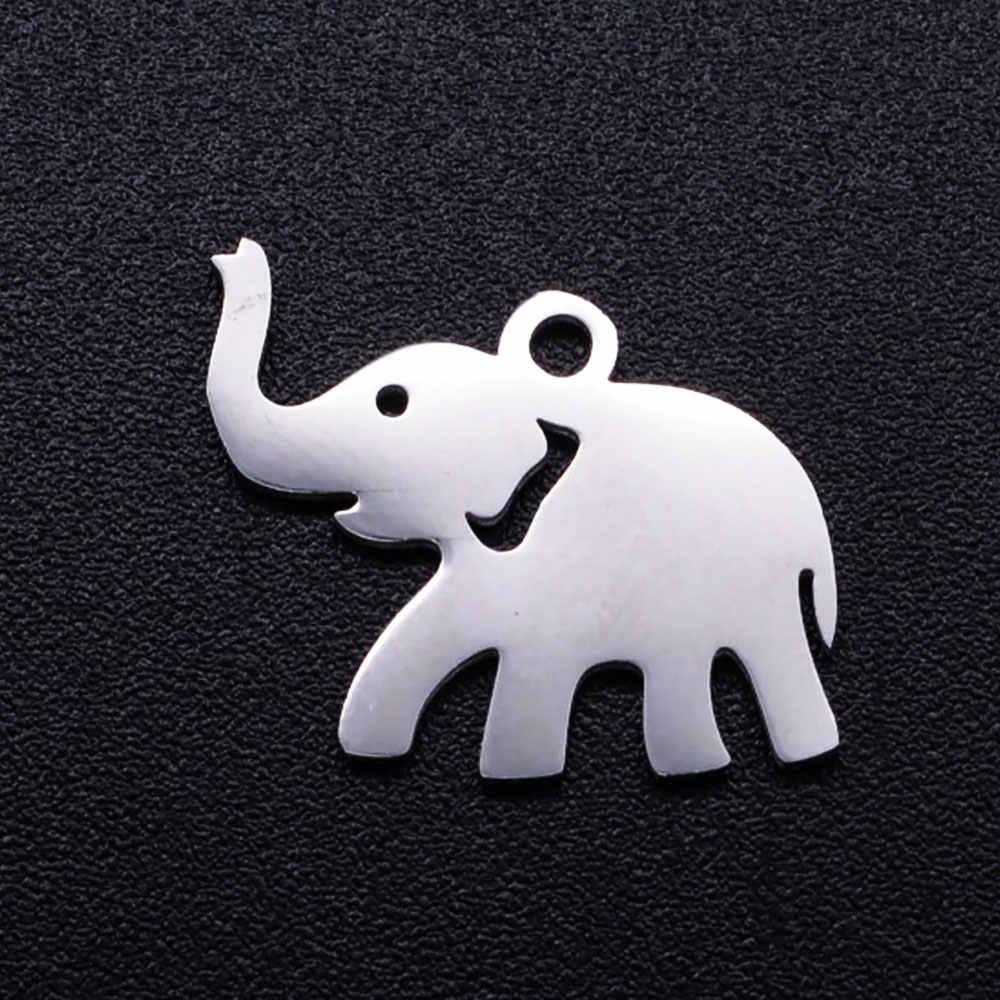 5 יח'\חבילה מזל סמל ארבעה לב תלתן DIY קסמי סיטונאי 100% נירוסטה פרסת תליון פיל מחברים קסם