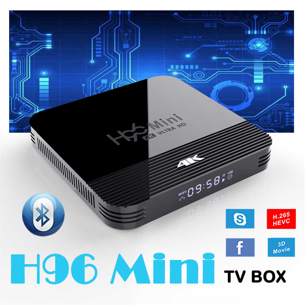 H96 TV Box Android 9.0 RK32288 Quad core Wifi 4K h96 mini 2GB 16GB set top box 3D films Google Voice Assistent Netflix Youtube
