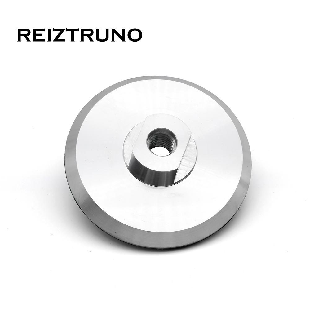 REIZTRUNO 4 Inch 100mm Aluminum Backer Pads  M14 5/8-11 Thread Backer Holder Pad For Surface Or Straight Edge Polishing