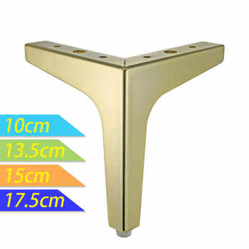 4pcs Metal Furniture Legs Square Cabinet Sofa Support Foot Golden for Bed Riser Metal Table Legs Furniture Accessories - Category 🛒 All Category