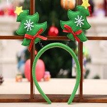 Красный/зеленый цвет украшения для рождественской вечеринки дерево головной обруч Рождество Hairband милый дизайн#25
