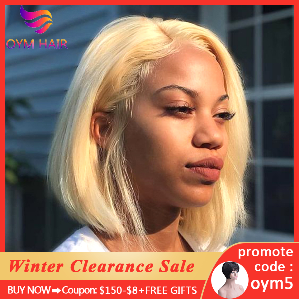 13x4 Short Lace Front Human Hair Wigs For Women Brazilian Straight Remy Bob Wig Lace Front Wig Pre Plucked Baby Hair