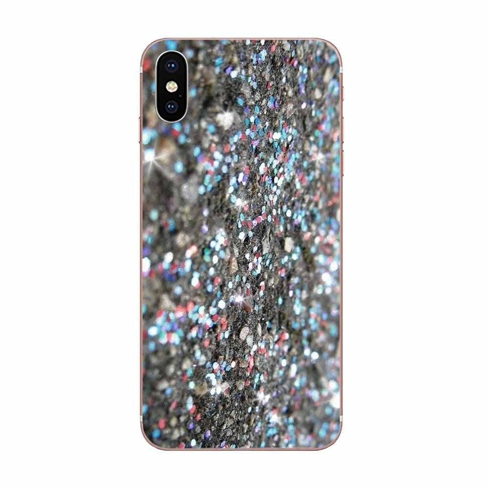 พิเศษสำหรับ LG K50 Q6 Q7 Q8 Q60 X Power 2 3 Nexus 5 5X V10 V20 V30 V40 Q stylus Silver Glitter สีชมพู