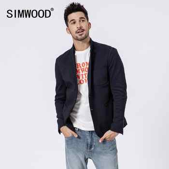 Simwood 2019 New Smart Blazers Men Fashion Suit Casual Slim Fit Blazer Masculino Brand Jackets For Men Free Shipping 180352 - DISCOUNT ITEM  49% OFF All Category