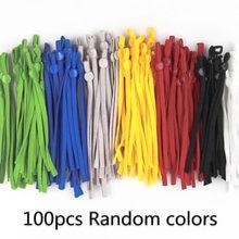 100 adet maskesi dikiş elastik bant kablosu ayarlanabilir toka ile sıkı maske kulak askısı kordon kulaklık halat DIY yapma malzemeleri
