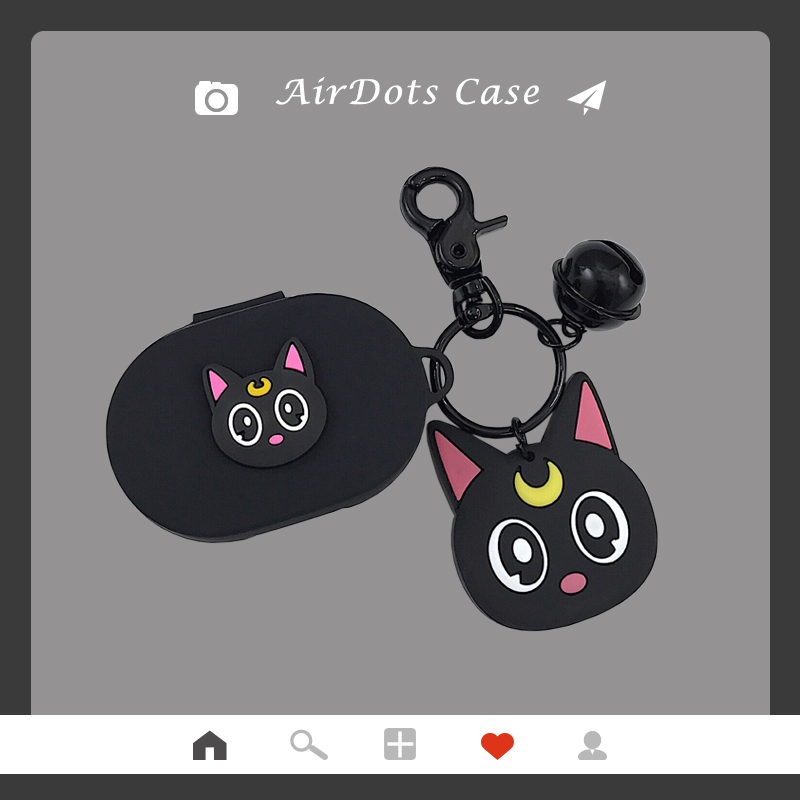 Cartoon Cat Earphone Case Keychain For Xiaomi Redmi AirDots New Case Cover Wireless Bluetooth Earphone Cases Soft TPU Shell