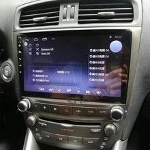 Reprodutor de vídeo dos multimédios da navegação de gps do carro para o autoradio da tela de toque da unidade principal audio do carro do rádio de lexus is250 2005-2012 android
