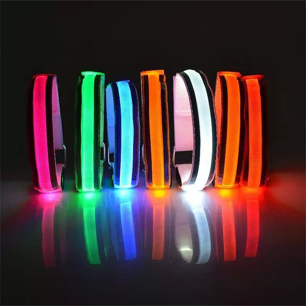 LED Reflective Light Arm Armband Strap Safety Belt For Night Running Cycling Hand Strap Wristband Wrist Bracelets Dropship Z0823