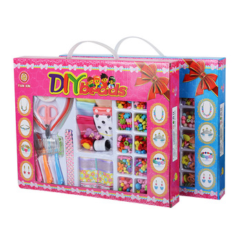 Big Gift Box Children's Beaded Toys DIY Handmade Beaded Creative Loose Beads Crafts Making Bracelet Necklace Jewelry Girl's Toy