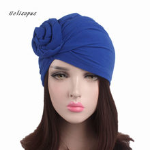 Helisopus New Knotted Turban Hat for Women Twist Knot India Hat Ladies Chemo Cap Fashion Headbands Women Hair Accessories(China)