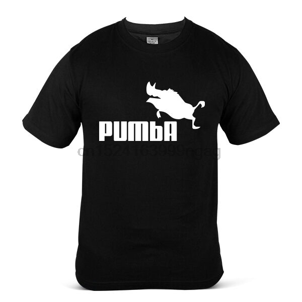 1725-BK Pumba Hipster Trend Celebrity Casual Fun Black Mens Tee T-Shirt