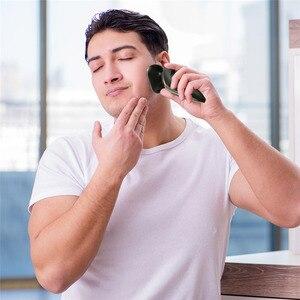 Image 5 - Электробритва для сухой и влажной уборки, электрическая бритва для лица для мужчин, машинка для бритья бороды, вращающаяся головка, usb перезаряжаемая, 2в1, набор для ухода