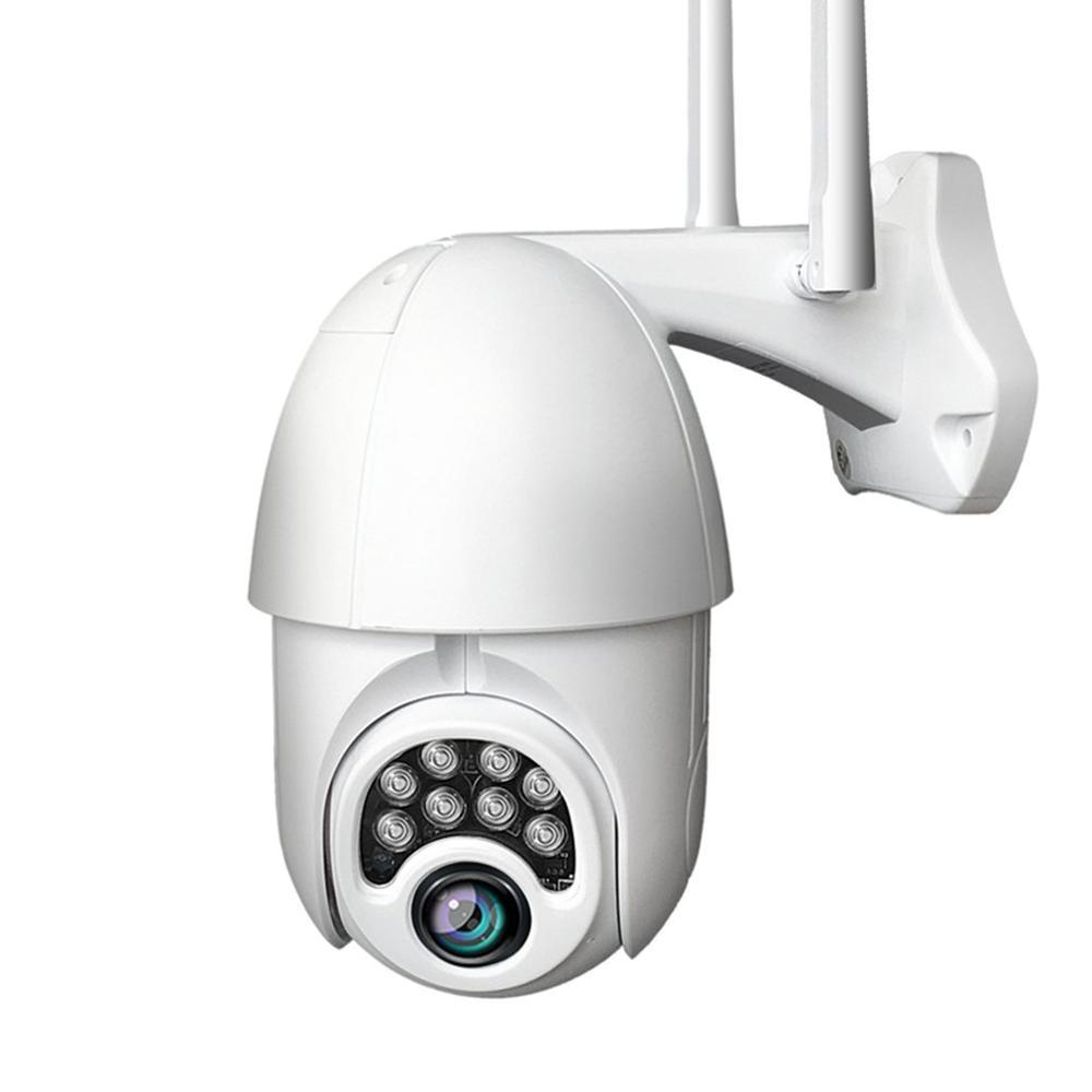Wifi PTZ IP Camera Siren Light 8 LEDs Auto Tracking Cloud Home Security CCTV Camera Digital Speed Dome Camera