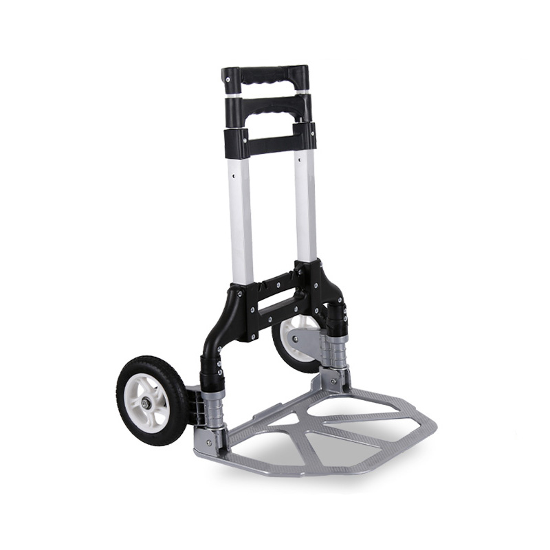 Household Trolleys Small Portable Folding Luggage Cart Trailer Trolley Pull Cargo Trolley Truck To Buy Food Shopping