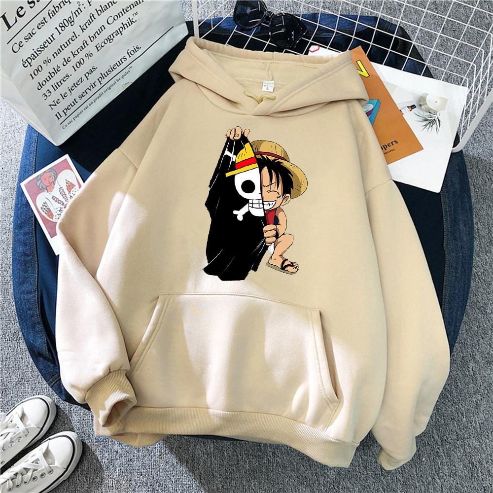 Fleece Pullover Clothing Tops Hoodies Men Homme Printed Male Streetwear Japanese Anime