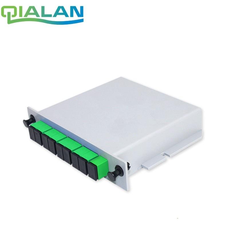 SC APC 1x8 Splitter Single Mode  Fiber Optical Box 1x8 PLC Splitter Box FTTH PLC Splitter 1x8 With SC/APC Connector