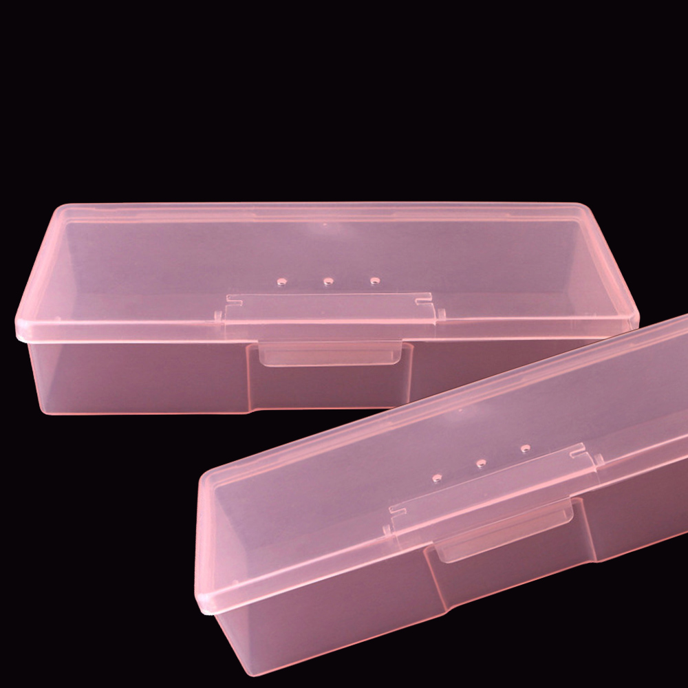 1pc Nail Storage Manicure Box Plastic Shell Hard High Quality Empty Container Transparent Manicure Tool Nail Art Storage Boxes