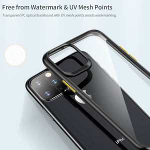 Image 3 - ROCK For 2019 iphone 11 iphone 11 pro max case Crystal Clear Phone protection soft + hard hybrid case for iphone 11 pro cover