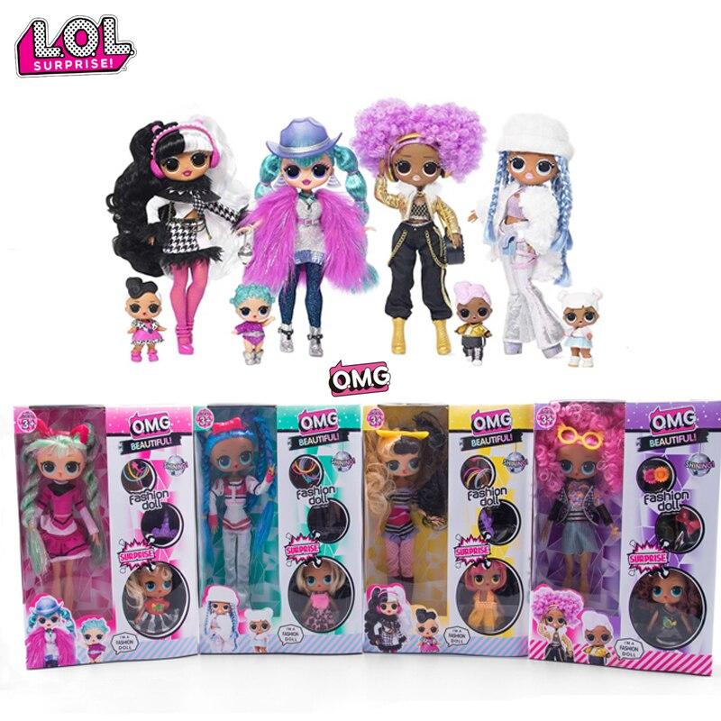 Original LOL Überraschung puppen OMG Winter Disco Puppen LOLs puppen blind box Mädchen Spielen Haus Spielzeug Geschenke für mädchen geschenke