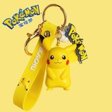TAKARA TOMY Pokemon Action Figure Keychain Pokémon Pikachu Anime Toy Cartoon Decorations Model Dolls Childer Kids Birthday Gift