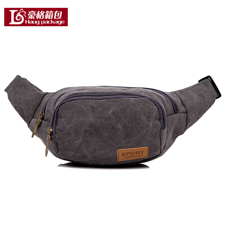 Canvas Sports Waist Pack Multi-functional Outdoor Waist Pack Men Crossbody Bag