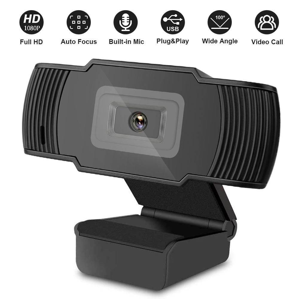 Auto Focus Full HD Webcam 1080P 5MP Web Camera with Microphone for Computer for PC Laptop Desktop Mac Video Calling Conferencing