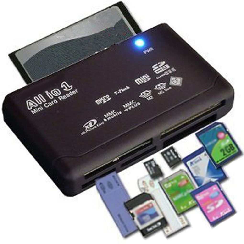 All In One Card Reader USB 2.0 480Mbps Card Reader TF MS M2 XD CF Micro SD Carder Reader Mini Memory Cardreader