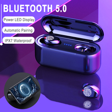Bluetooth5.0 Headset TWS Wireless Earphones Earbuds Stereo Headphones 8D with ch