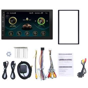 7 pulgadas 2Din Android 8,1 REPRODUCTOR DE MP5 estéreo para coche FM Radio GPS WiFi BT unidad principal con cámara
