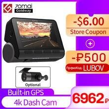 -500₽ промо-код: LUBOV , В наличии 70mai видеорегистратор A800 Dual-vision 4 K 140 FOV Super Night Vision GPS ADAS 24 часа парковочный монитор DVR камера 70mai 4 k A800 4 k