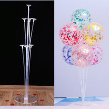 7 Tubes Balloons Stand Balloon Holder Column Confetti Balloon Baby Shower Kids Birthday Party Wedding Decoration Supplies(China)