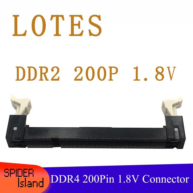 DDR2 1.8V 200Pin 200-PIN Connectors Laptop Notebook Memory Slot Sockets Forward 200PIN Connector AAA-DDR-120-K