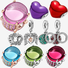 NEW 925 Sterling Silver Beads Lover's Gift Heart Of Love Charms Fit Original Pandora Bracelets Women DIY Jewelry Gift