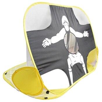 цена на Kids Soccer Goal Portable Football Gate Folding Children Soccer Goal Net for Backyard Indoor Toy Soccer Door Set Equipment