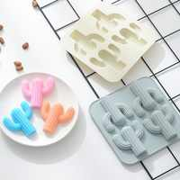 Creative desert cactus silicone baking mold baking tray food grade DIY handmade soap ice ice grid baking utensils