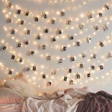 Светодиодная гирлянда с зажимами для фотографий украшение вечеринки