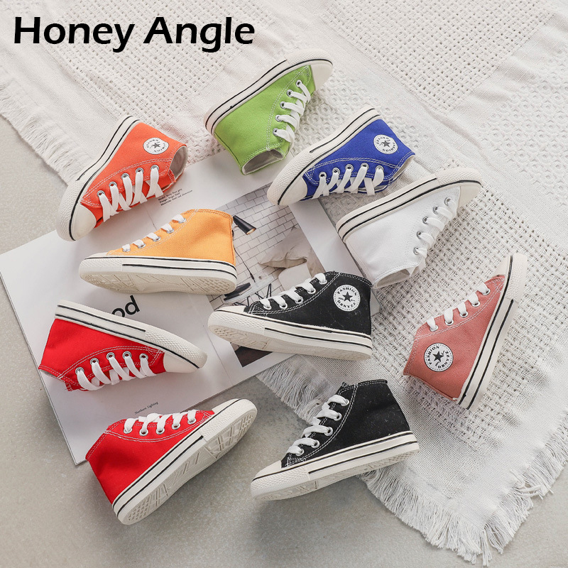 Spring Autumn Kids Canvas Shoes For Girl Boy Korean Style Fashion Children Shoes Little Girl Baby Canvas Shoes Toddler Footwear