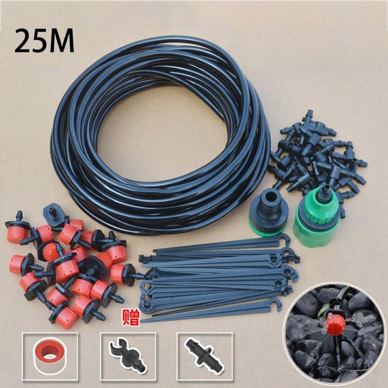 25M Micro sprinkler Tropf Bewässerung Spray 4/7 Wasser Kühlung Feuchtigkeitscreme auto Bewässerung Automatische Garten bewässerung Kit Set hof