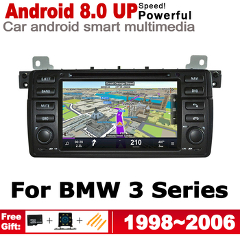 """7"""" HD DSP Stereo Android 8.0 up Car DVD GPS Navi Map For BMW 3 Series E46 1998~2006 2 DIN multimedia player radio WiFi System"""