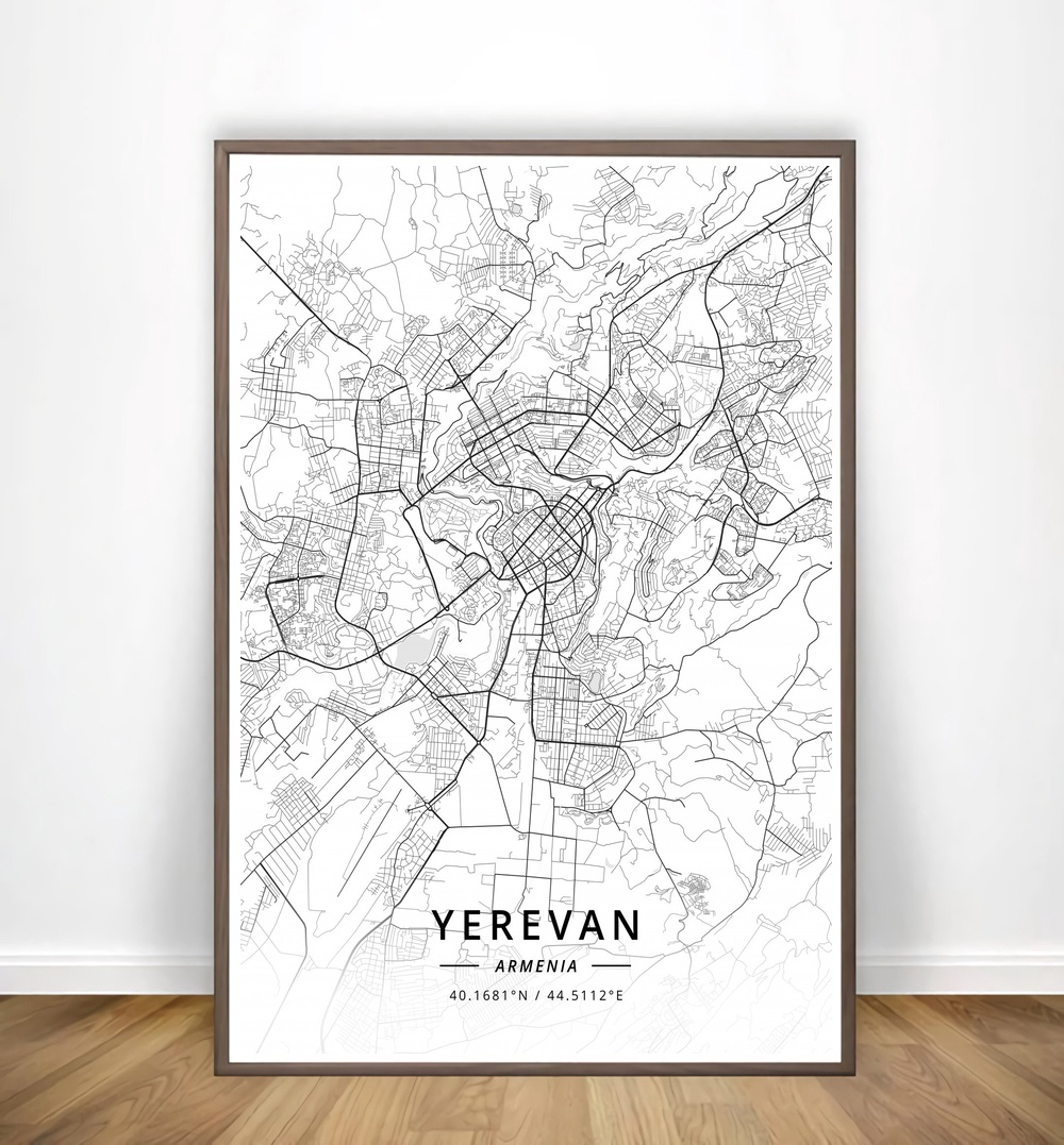 US $13.13 13% OFFKabul,Wroclaw,Wuppertal,Yakutsk,Yaounde,Yerevan,York,Modern  City Map Canvas Art Print Home Room Decor Poster-in Painting & Calligraphy