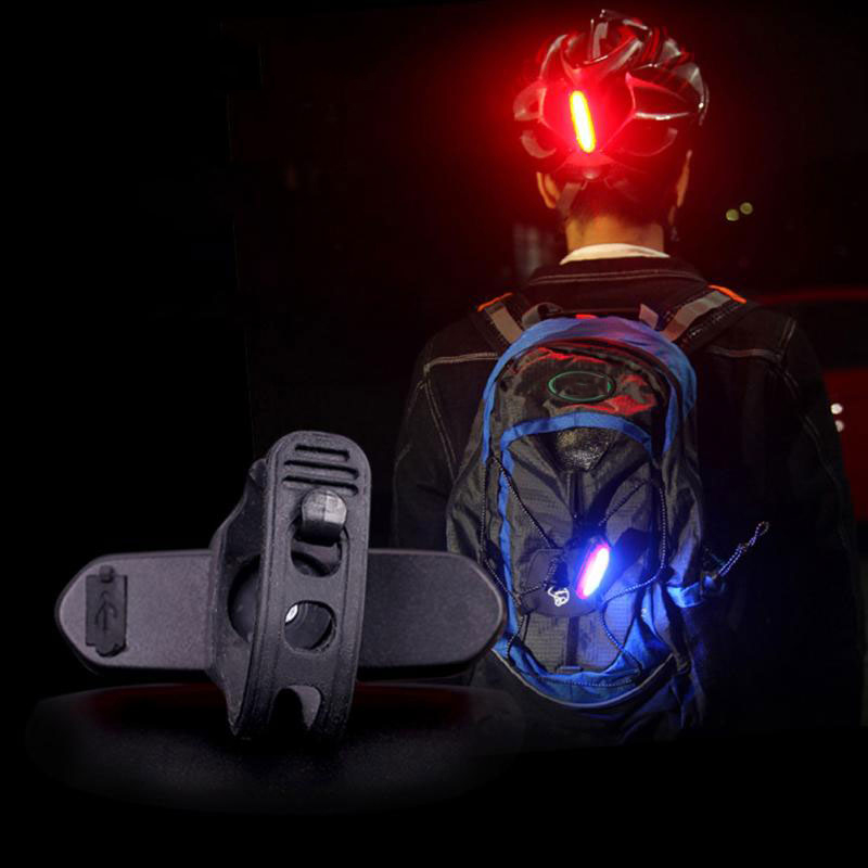 Image 4 - Bike Bicycle Lamp Rechargeable LED USB COB Mountain Bike Tail Light Taillight MTB Safety Warning Bicycle Rear Light 2018-in Bicycle Light from Sports & Entertainment