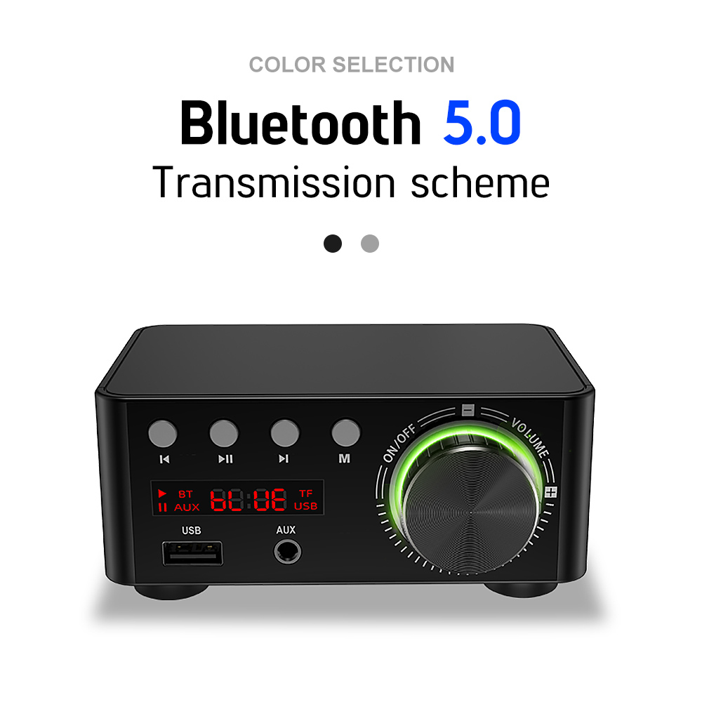 AIYIMA TPA3116 Bluetooth Amp Digital Class D Power Home Amplifier 50Wx2 Stereo HiFi Sound Amplifier Support AUX TF MP3 Player