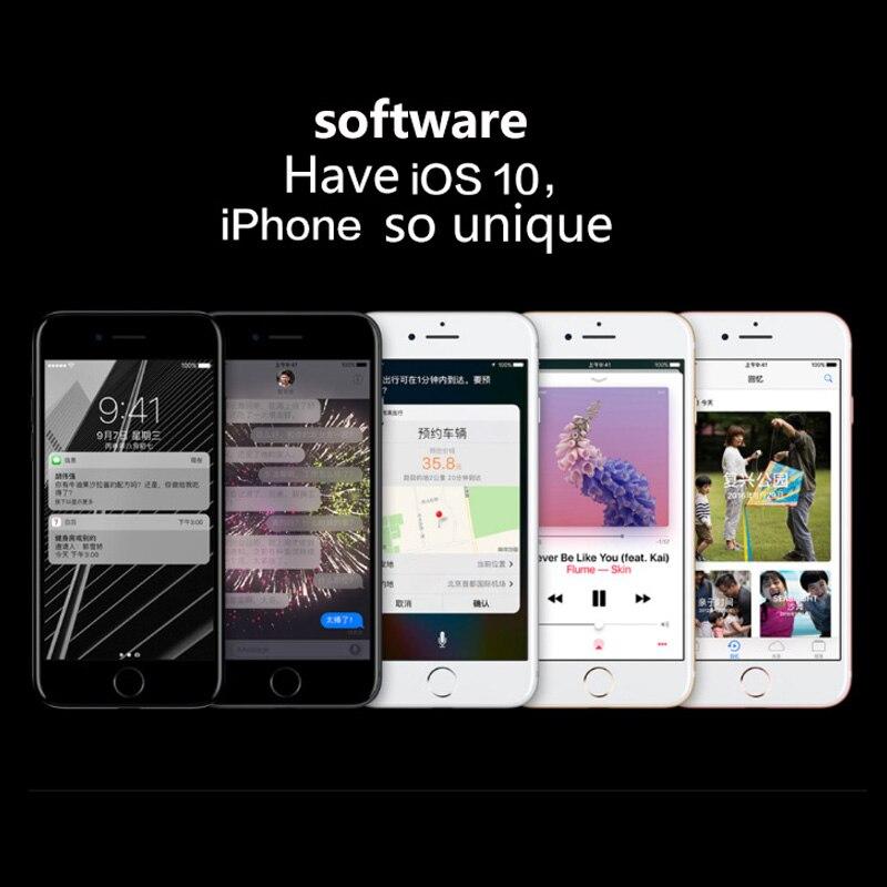 Used Unlocked Original iPhone 7 Cell Phones 4.7inch Fingerprint Smartphones 2+32/128/256GB 7+12MP 1SIM Card Mobile Phone