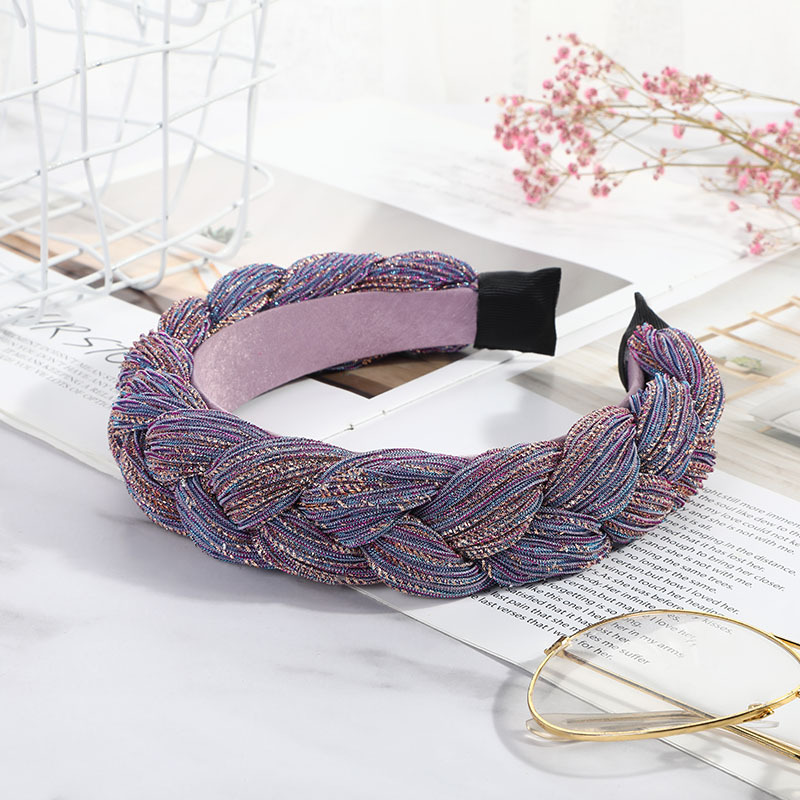 Gold Wire Braid Hairband Women Fabric Knotted Headband Vintage Twist Turban Hair Accessories Fixed Wide Hair Band Boho Headwear