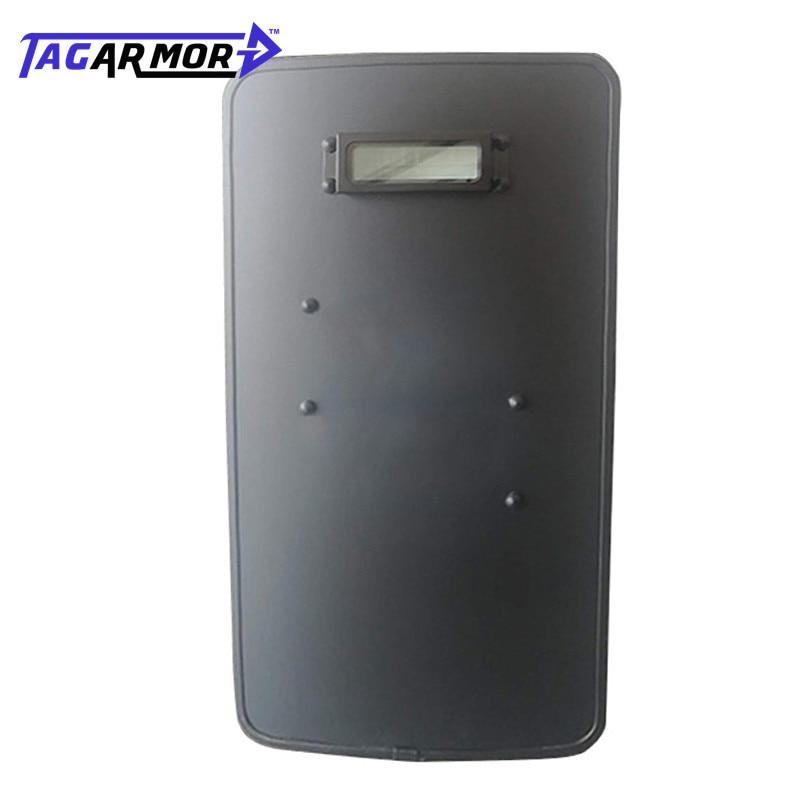 NIJ IIIA Handheld Military Police PE Bullet Proof Shield Ballistic Riot Shield With Ballistic Glass