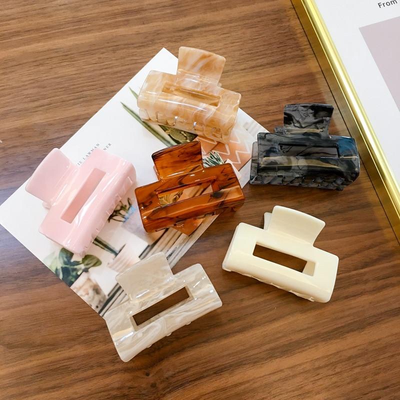 Korean Fashion Tetragonum  Hair Claws Concise Style Acrylic Hair Claws For Women