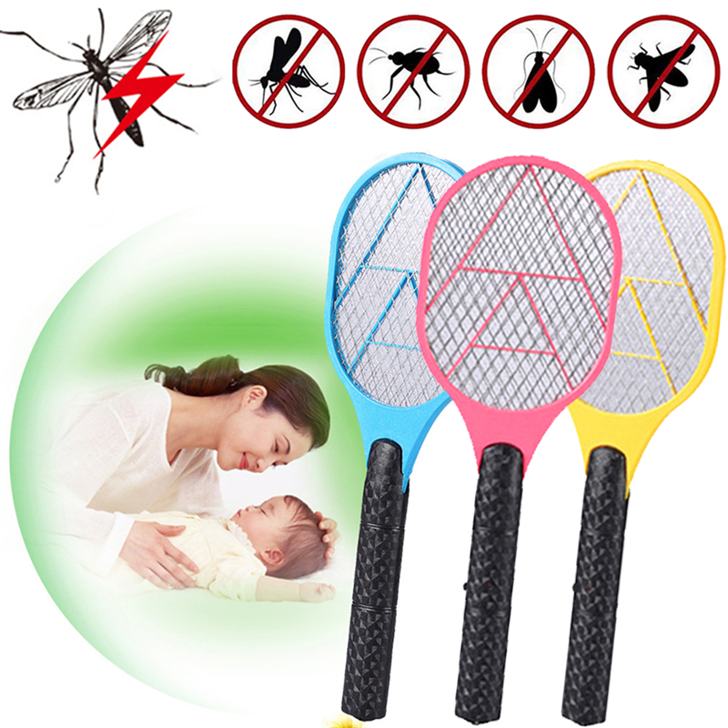 Home Electric Mosquito Swatter Anti Mosquito Fly Repellent Pest Rejecting Racket Bug Insect Repeller Trap Home Tool Bug Killer