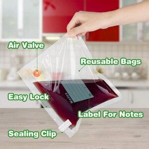 Image 4 - を taili 再利用可能な真空セーバー袋食品収納袋圧縮袋生鮮食品をキープ & おいしいスー vide ため調理冷蔵庫オーガナイザー