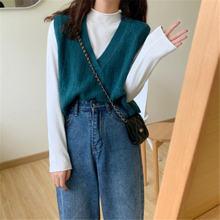 Вязаный жилет для женщин повседневный короткий свитер без рукавов