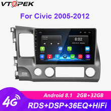 "Vtopek 10"" 2+32G Android 8.1 4G WiFi Car Radio Multimedia Video Player Navigation GPS HIFI for Honda Civic 2005-2011 2din Dvd(China)"